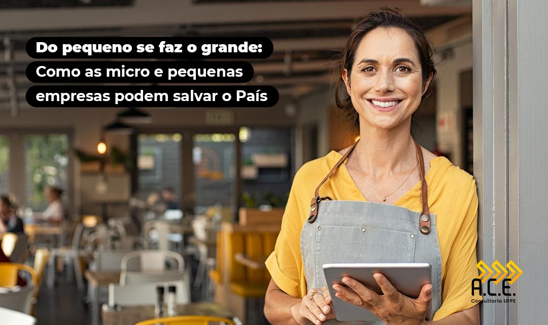 Do pequeno se faz o grande: Como as micro e pequenas empresas podem salvar o País